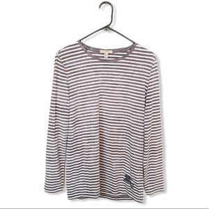 BURBERRY BRIT striped long sleeve tee